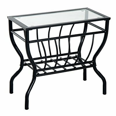 Thiel Metal Magazine Rack End Table