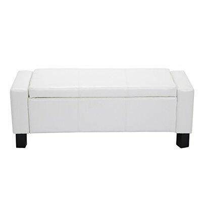 Farrior Storage Ottoman Upholstery: White