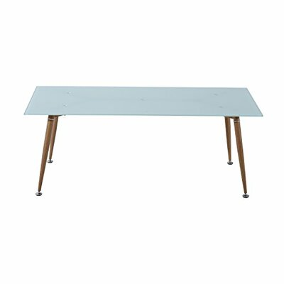 Chea Mid-Century Modern Tempered Glass Retro Coffee Table Color: White