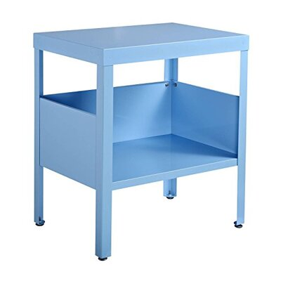 Mcgrail Mid Century Modern Industrial Nightstand Color: Blue
