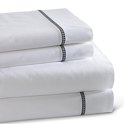 Circle Link 300 Thread Count 100% Cotton Sheet Set Size: King, Color: Black