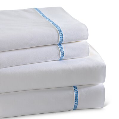 Circle Link 300 Thread Count 100% Cotton Sheet Set Size: Queen, Color: Blue