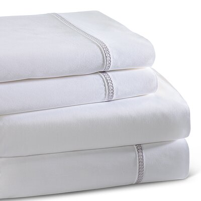 Circle Link 300 Thread Count 100% Cotton Sheet Set Color: Platinum, Size: King