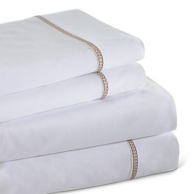 Circle Link 300 Thread Count 100% Cotton Sheet Set Size: Queen, Color: Taupe