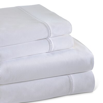 Circle Link 300 Thread Count 100% Cotton Sheet Set Size: King, Color: White