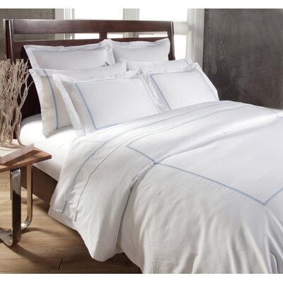 Circle Link 3 Piece Duvet Cover Set Color: Blue, Size: Queen