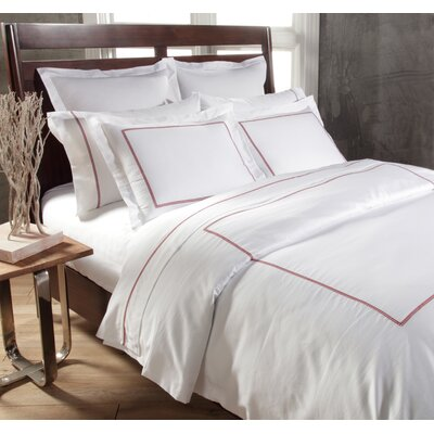 Circle Link 3 Piece Duvet Cover Set Size: King, Color: Spice Red