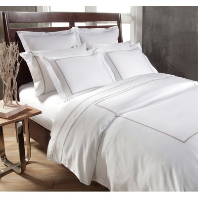 Circle Link 3 Piece Duvet Cover Set Size: King, Color: Taupe