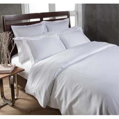 Circle Link 3 Piece Duvet Cover Set Size: King, Color: White