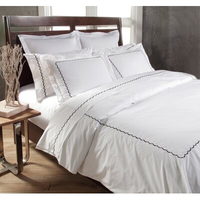 Primrose Duvet Set Color: White / Black, Size: King
