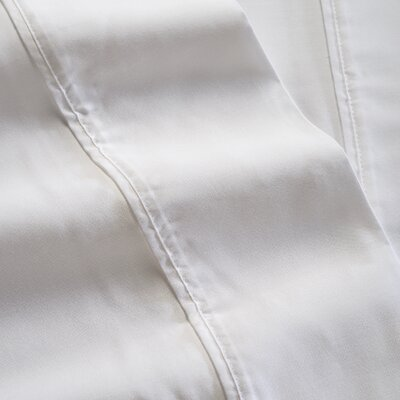 600 Thread Count 100% Tencel Sheet Set Color: White, Size: Twin