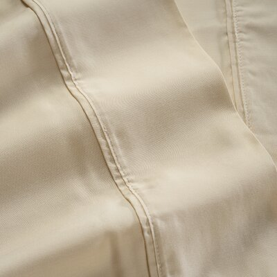 600 Thread Count 100% Tencel Sheet Set Color: Cream, Size: Twin