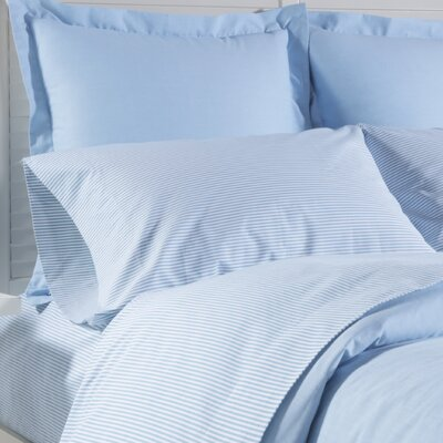 Yarn Dyed Stripe Cotton Pillow Case Color: French Blue