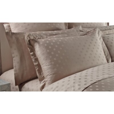 Dot Woven Jacquard Pillow Case Color: Silver Sage, Size: King
