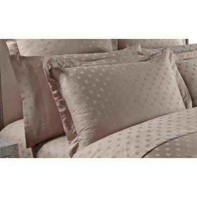 Dot Woven Jacquard Pillow Case Color: Silver Sage, Size: Standard