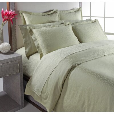 Garland Woven Jacquard Reversible Duvet Cover Set Color: Silver Sage, Size: Full/ Queen