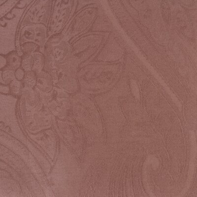 Paisley Woven Jacquard Reversible Duvet Cover Set Color: Chocolate, Size: King