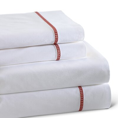 Circle Link 300 Thread Count 100% Cotton Sheet Set Size: Queen, Color: Spice