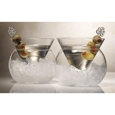 Rockwell Small Stemless Martini Glass (set Of 2)