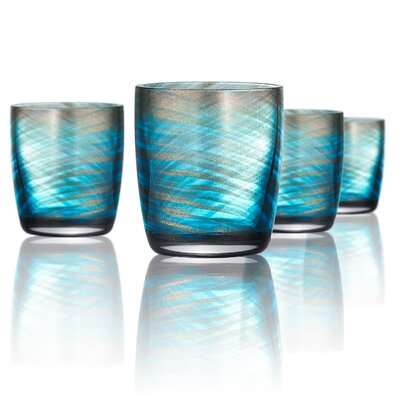 Misty Double 10 oz. Old Fashioned Glass Color: Aqua 14724B