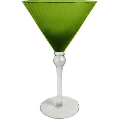Simonetti 10 Oz. Martini Glass Finish: Lime