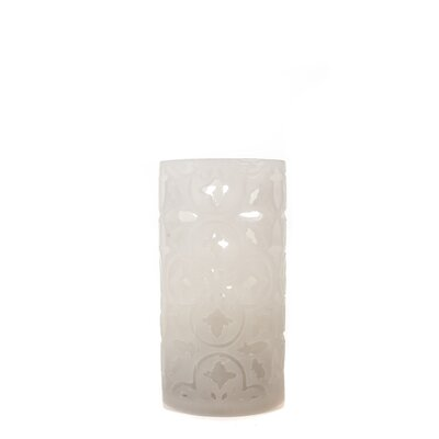 Carved Series Flameless Pillar Candle