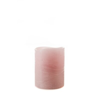 Taupe Flameless Pillar Candle Size: Small, Color: Rose