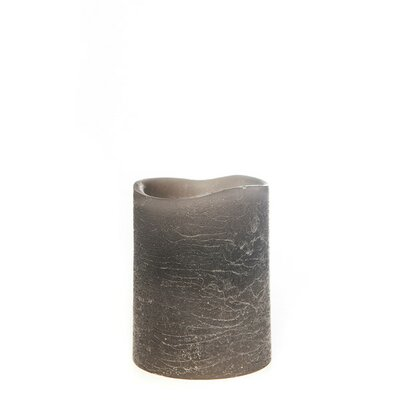 Taupe Flameless Pillar Candle Size: Small, Color: Gray