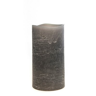 Taupe Flameless Pillar Candle Size: Medium, Color: Gray