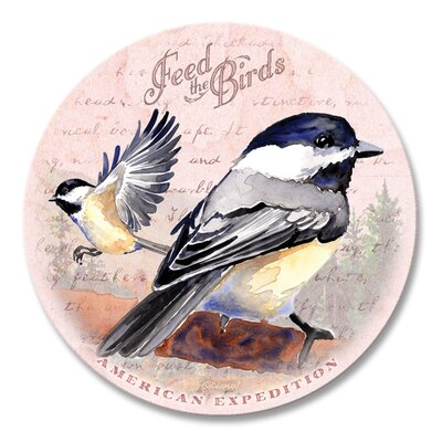 5 Piece Chickadee Postcard Stone Coaster Set
