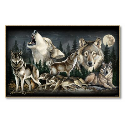 Gray Wolf Collage Graphic Art