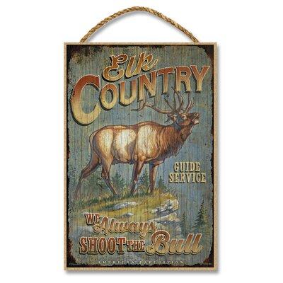Elk Country Guide Service Vintage Advertisement