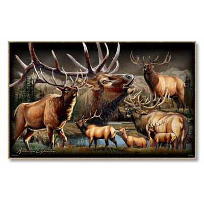 Elk Collage Graphic Art