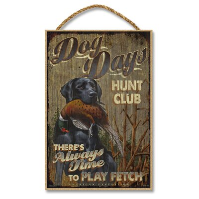 Dog Days Hunt Club Vintage Advertisement