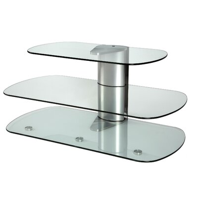 Skyline TV Stand Finish: Silver