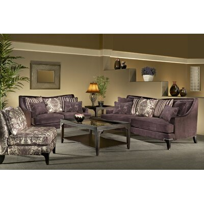 Sage Avenue D3685-0302D3019-04PURPLE Megan 3 Piece Sofa, Loveseat and Chair Set