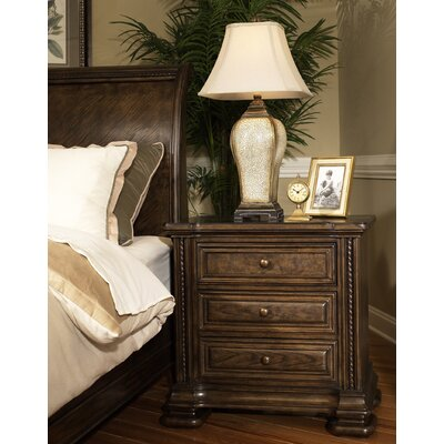 Alexander 3 Drawer Nightstand