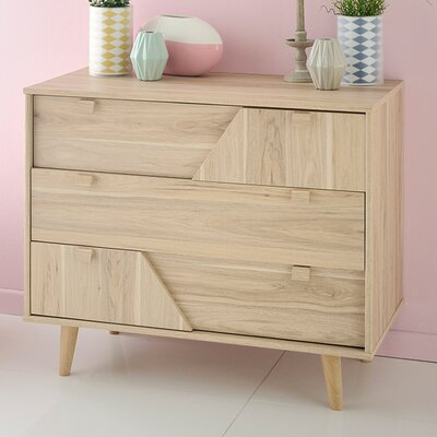 Swen 3 Drawer Chest with Mirror
