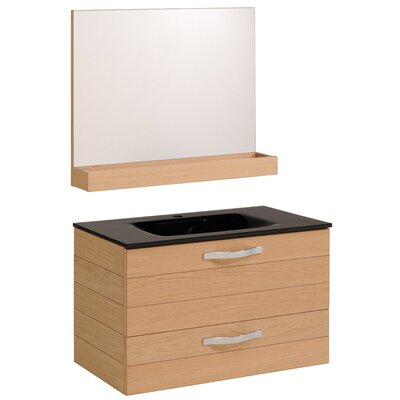 Oslo 40 Single Bathroom Vanity Set with Mirror