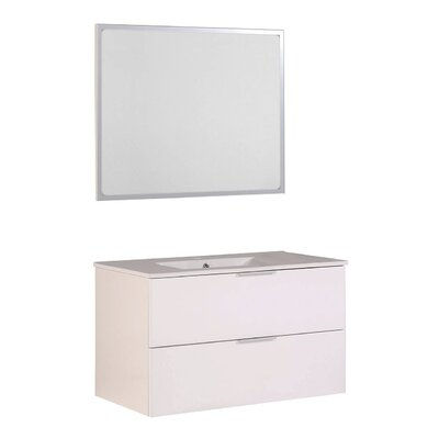 Luxy 36 Single Bathroom Vanity Set with Mirror