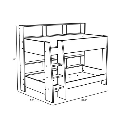 Depuy Twin Bunk Bed with Trundle