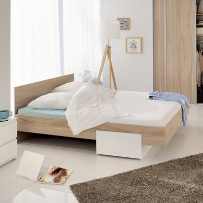 Elma Full/Double Storage Platform Bed Color: Dakota Oak