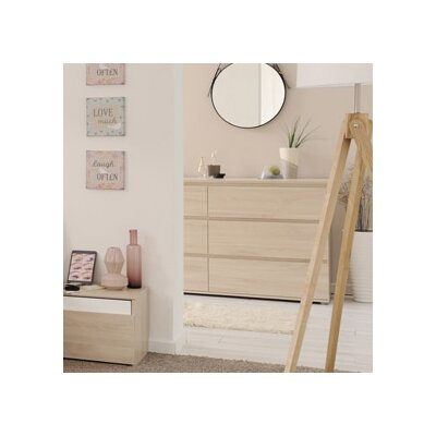 Mallow 6 Drawer Dresser Finish: Sesame Oak
