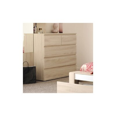 Mallow 5 Drawer Dresser Color: Sesame Oak