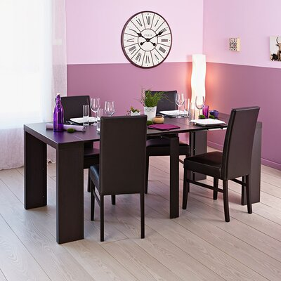 Helena Extendable Dining Table Color: Wenge