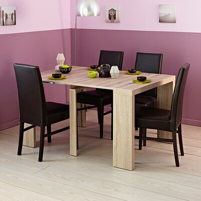 Helena Extendable Dining Table Color: Rough Oak