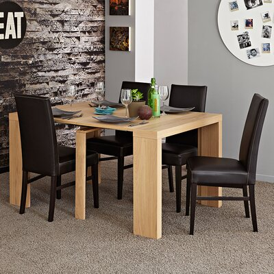 Helena Extendable Dining Table Color: Natural Oak