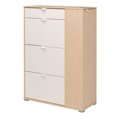 Prime 10-Pair Shoe Storage Cabinet Finish: Natural Oak