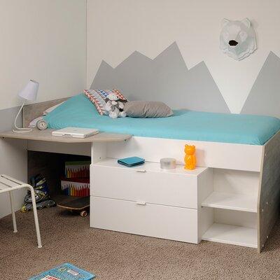Milky Twin Low Loft Bed