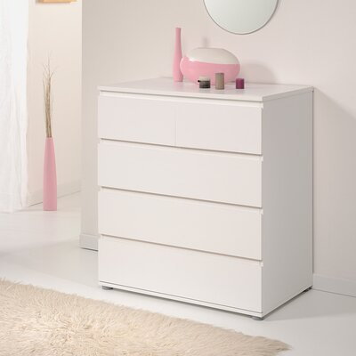 Neo 5 Drawer Chest Color: White